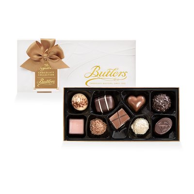 Butlers Small Embossed Signature Assortment, with 9 Chocolates