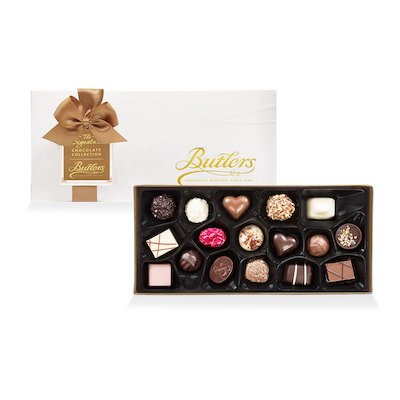 Butlers Medium Embossed Signature Assortment, with 18 Chocolates