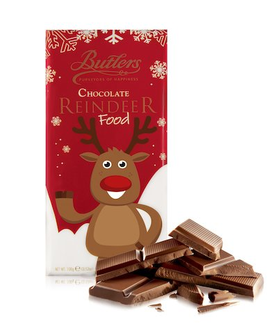 Butlers Milk Chocolate Reindeer Food Bar, Pack of 6 Bars