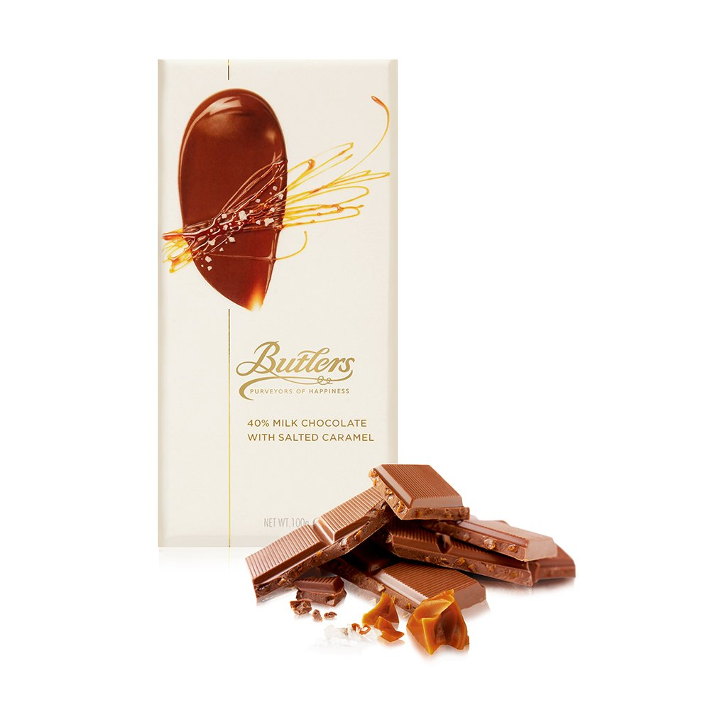 Butlers Large 40% Milk Chocolate Salted Caramel Bar, Pack of 6