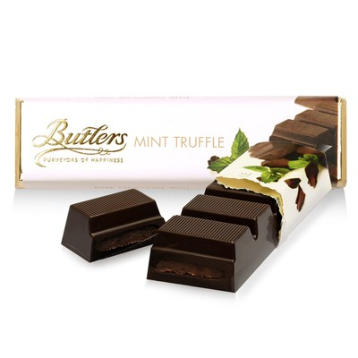 Butlers Dark Chocolate Mint Truffle Bar, Pack of 12