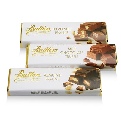 Assorted Chocolate Bar Selection, Pack of 12
