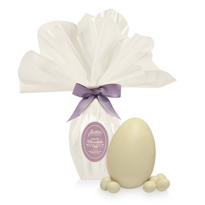 White Chocolate Medium Wrapped Easter Egg