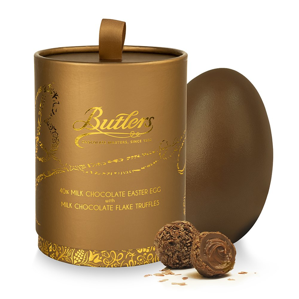 Milk Chocolate Easter Egg with Milk Chocolate Flake Truffles