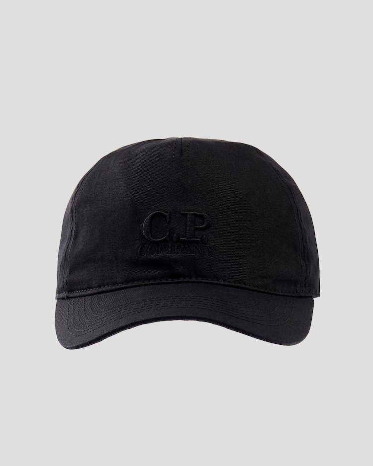 Gabardine Baseball Cap in Black