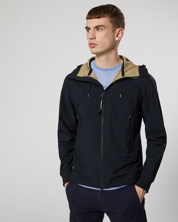 C.P. Shell Goggle Jacket in Total Eclipse