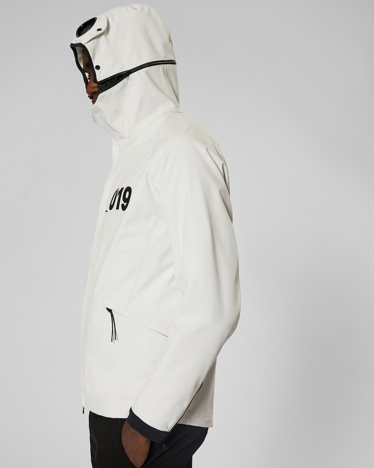 C.P. Shell Goggle Jacket in Gauze White
