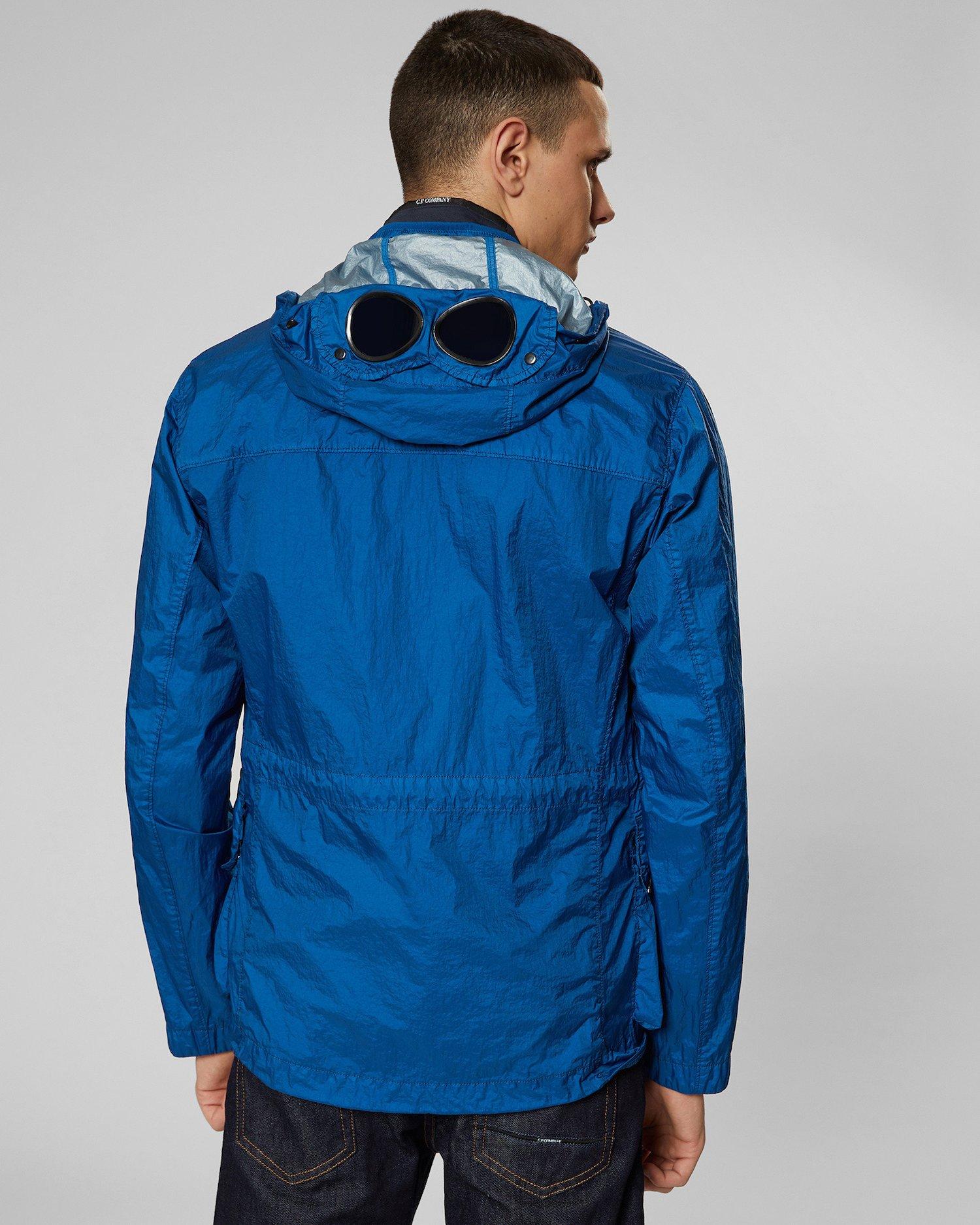 76213e0e4 Nyfoil Goggle Jacket In Moroccan Blue | C.P. Company Online Store