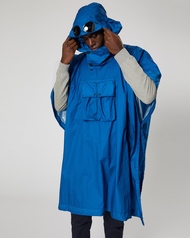 7311cdf27 Nyfoil Goggle Poncho In Moroccan Blue | C.P. Company Online Store