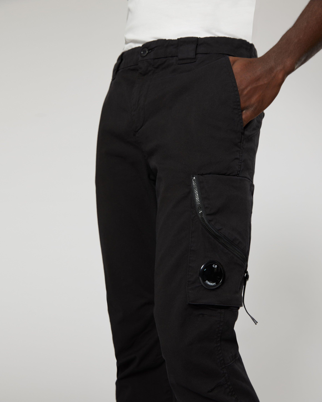 8f09fc753 Garment Dyed Stretch Gabardine Trouser In Black