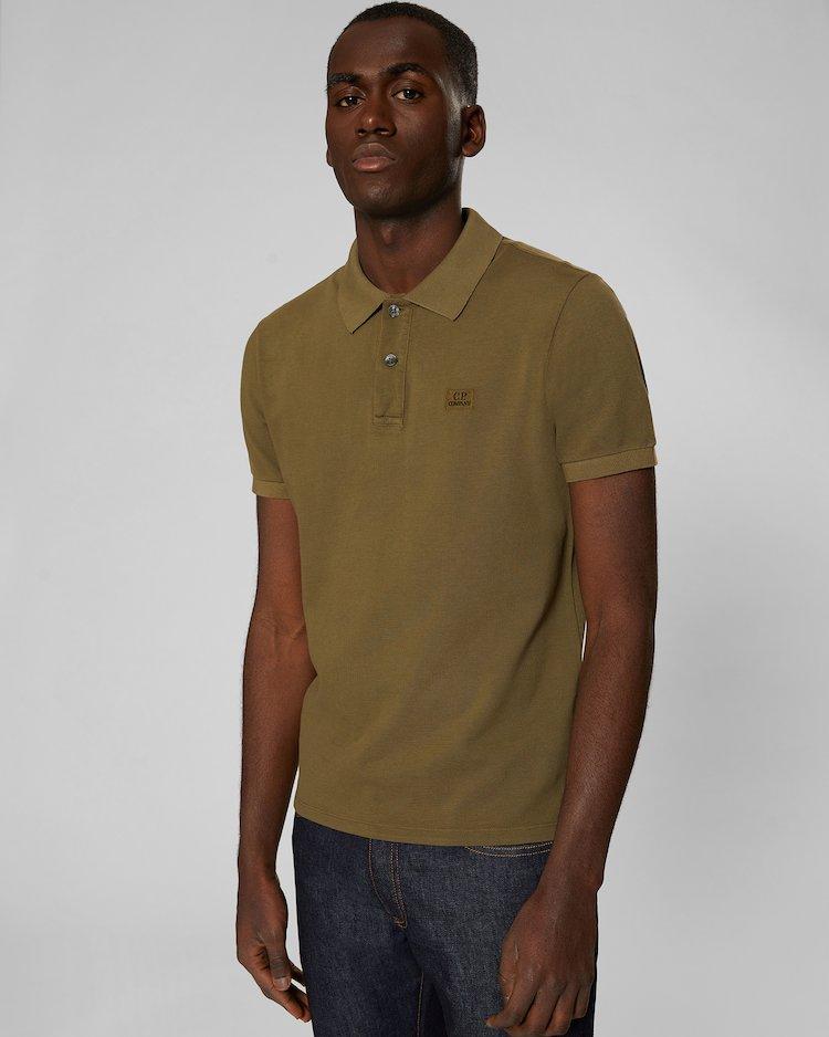Cotton Piquet Polo Shirt in Beech