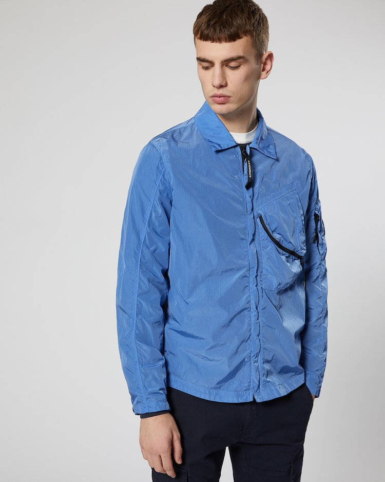 Chrome Lens Overshirt in Dutch Blue