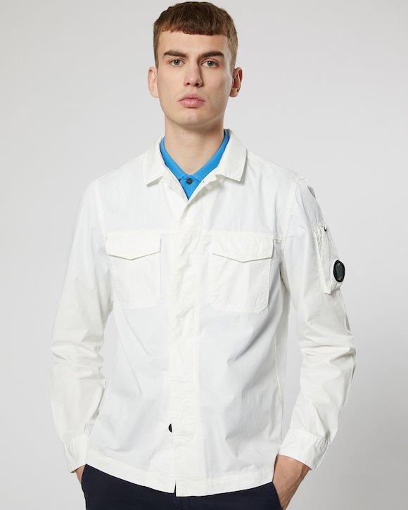 Gabardine Shirt in Gauze White