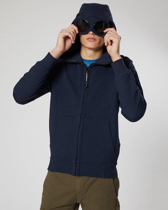Diagonal Fleece Goggle Sweatshirt in Total Eclipse