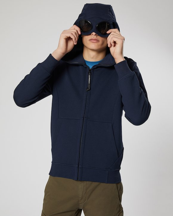 Diagonal Fleece Goggle Sweatshirt in Total Eclipse