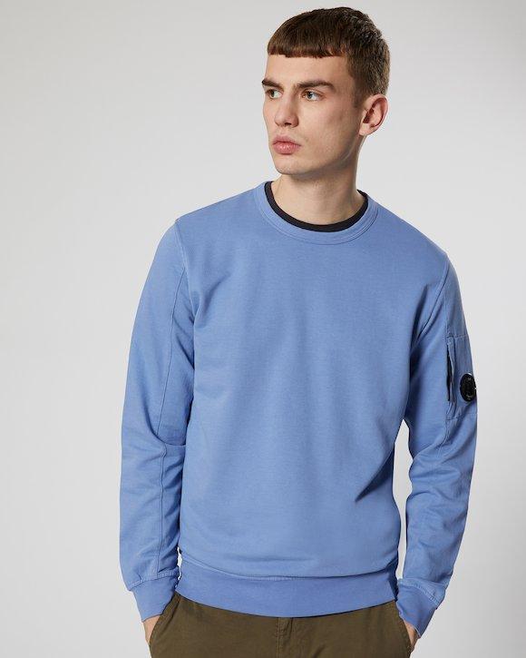 Garment Dyed Light Fleece Lens Crew Sweatshirt in Dutch Blue
