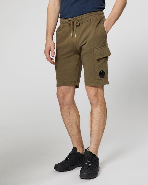 Garment Dyed Light Fleece Lens Pocket Sweatshort in Beech