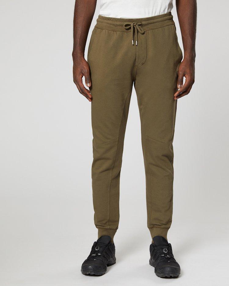 Garment Dyed Light Fleece Sweatpants in Black