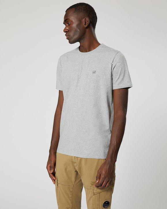 Garment Dyed Makò Jersey Crew T-Shirt in Poinciana