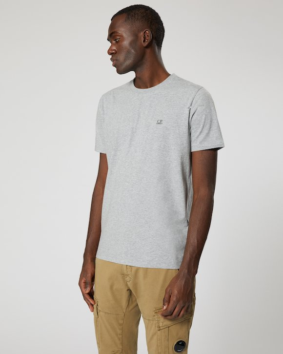 Garment Dyed Makò Jersey Crew T-Shirt in Poinciana