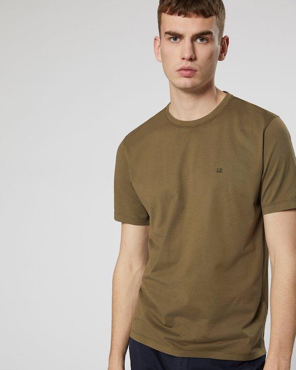 Garment Dyed Makò Jersey Crew T-Shirt in Dutch Blue