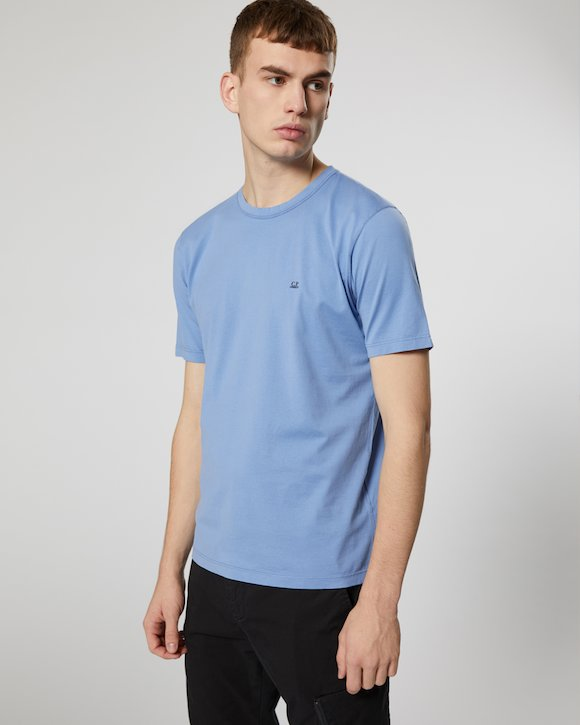 Garment Dyed Makò Jersey Crew T-Shirt in Total Eclipse