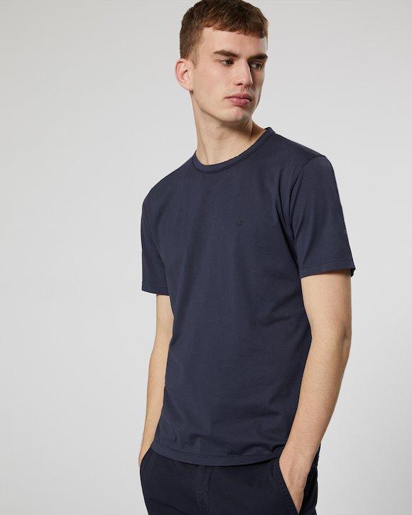 Garment Dyed Makò Jersey Crew T-Shirt in Black