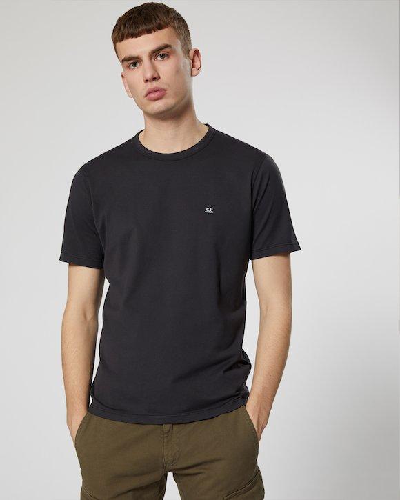Garment Dyed Makò Jersey Long Sleeve Crew T-Shirt in White