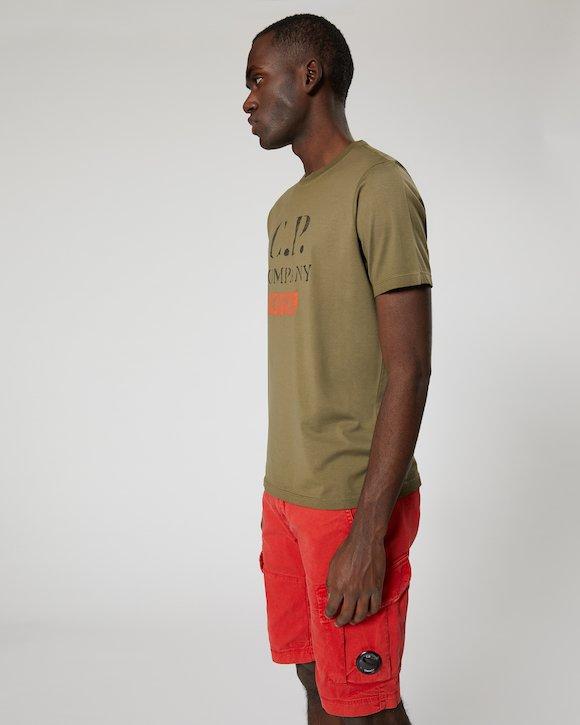 Re-Colour Makò Jersey Vintage Logo Crew T-Shirt in Beech