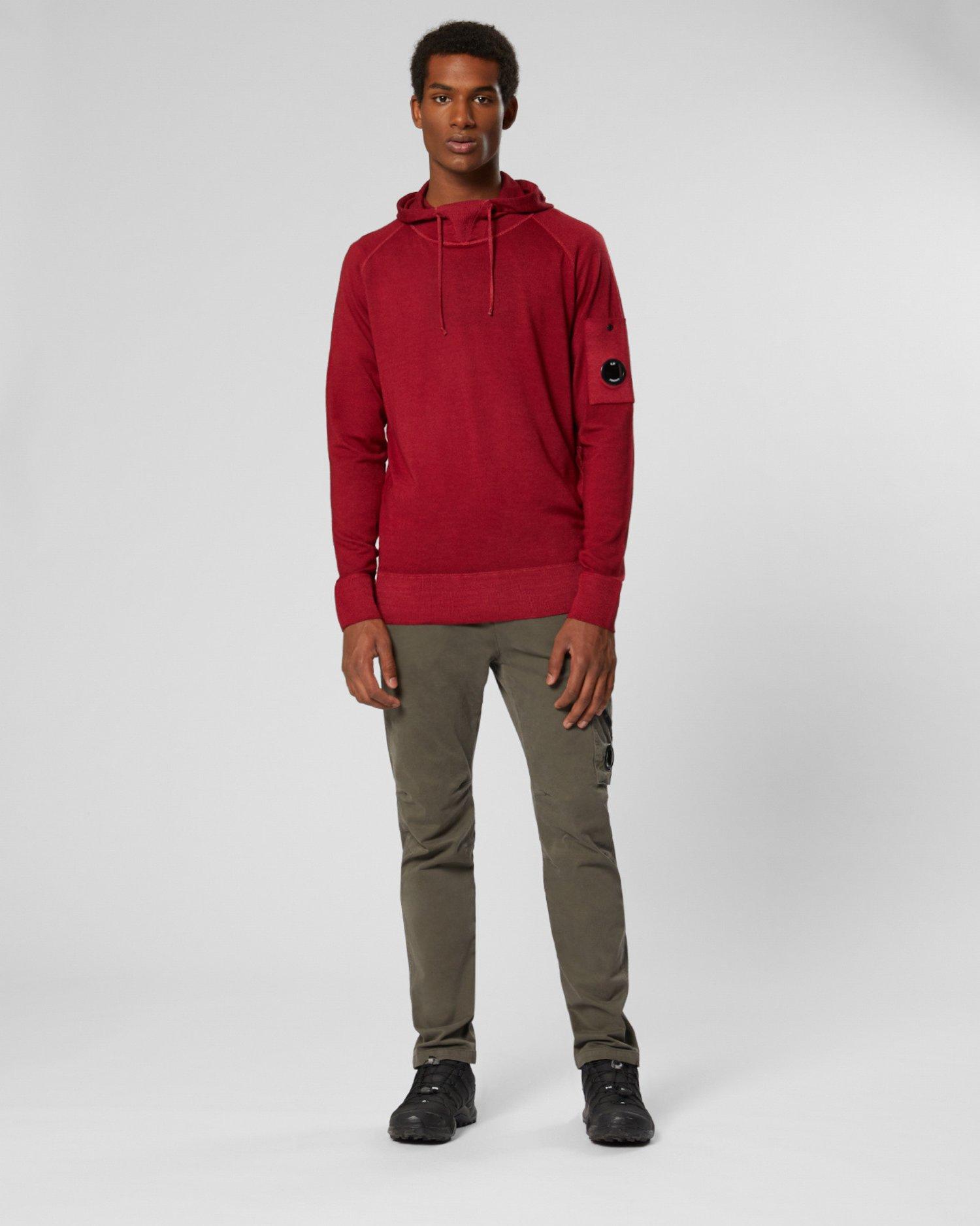 Fast Dyed Merino Hooded Sweatshirt