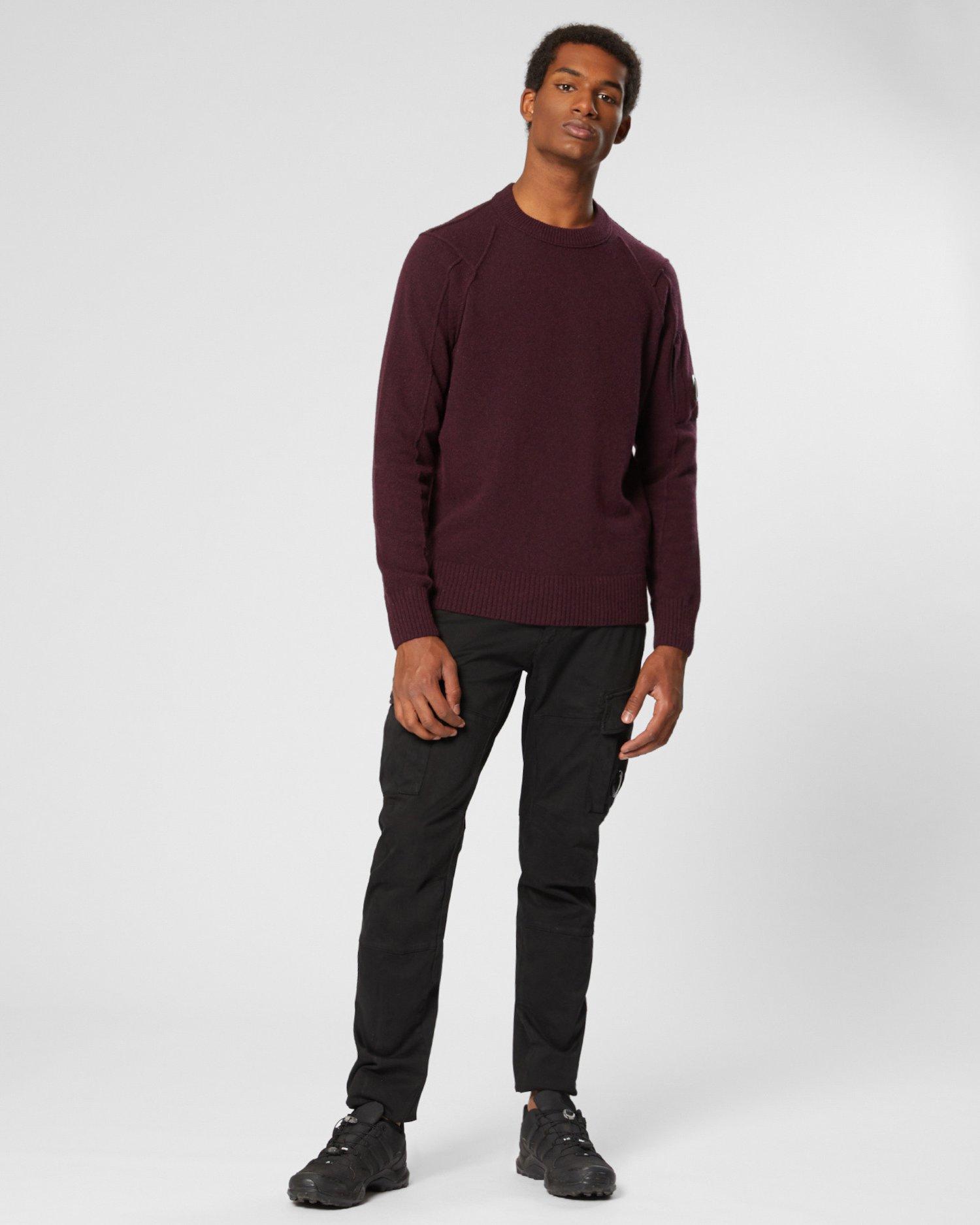 Jersey de lana con cuello redondo