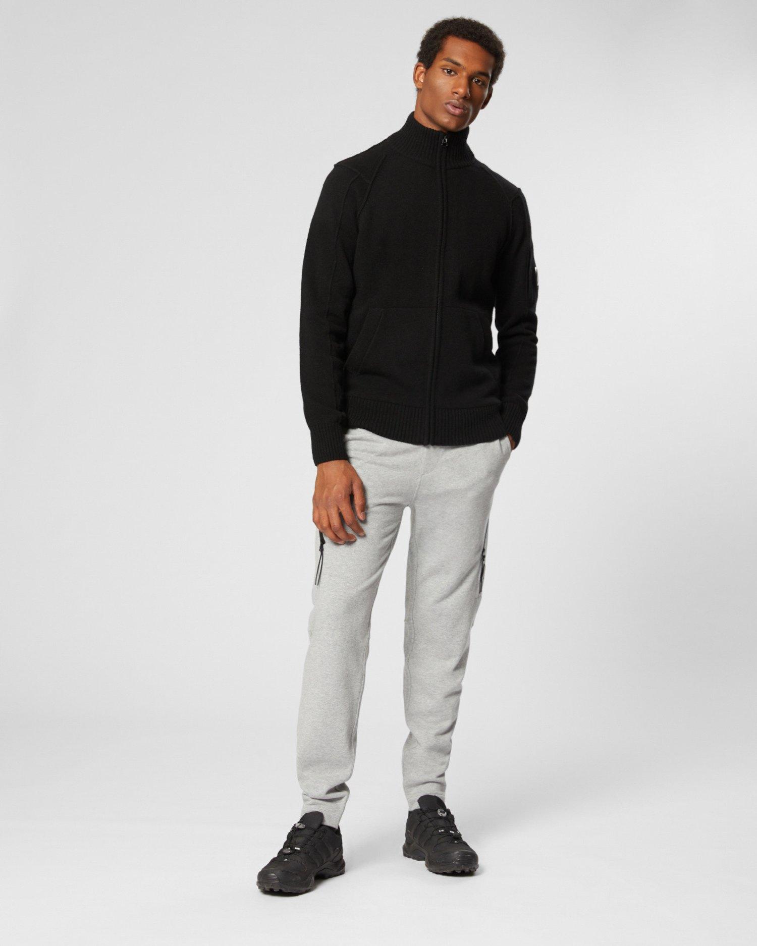Pullover aus Lammwolle mit durchgehendem Reißverschluss