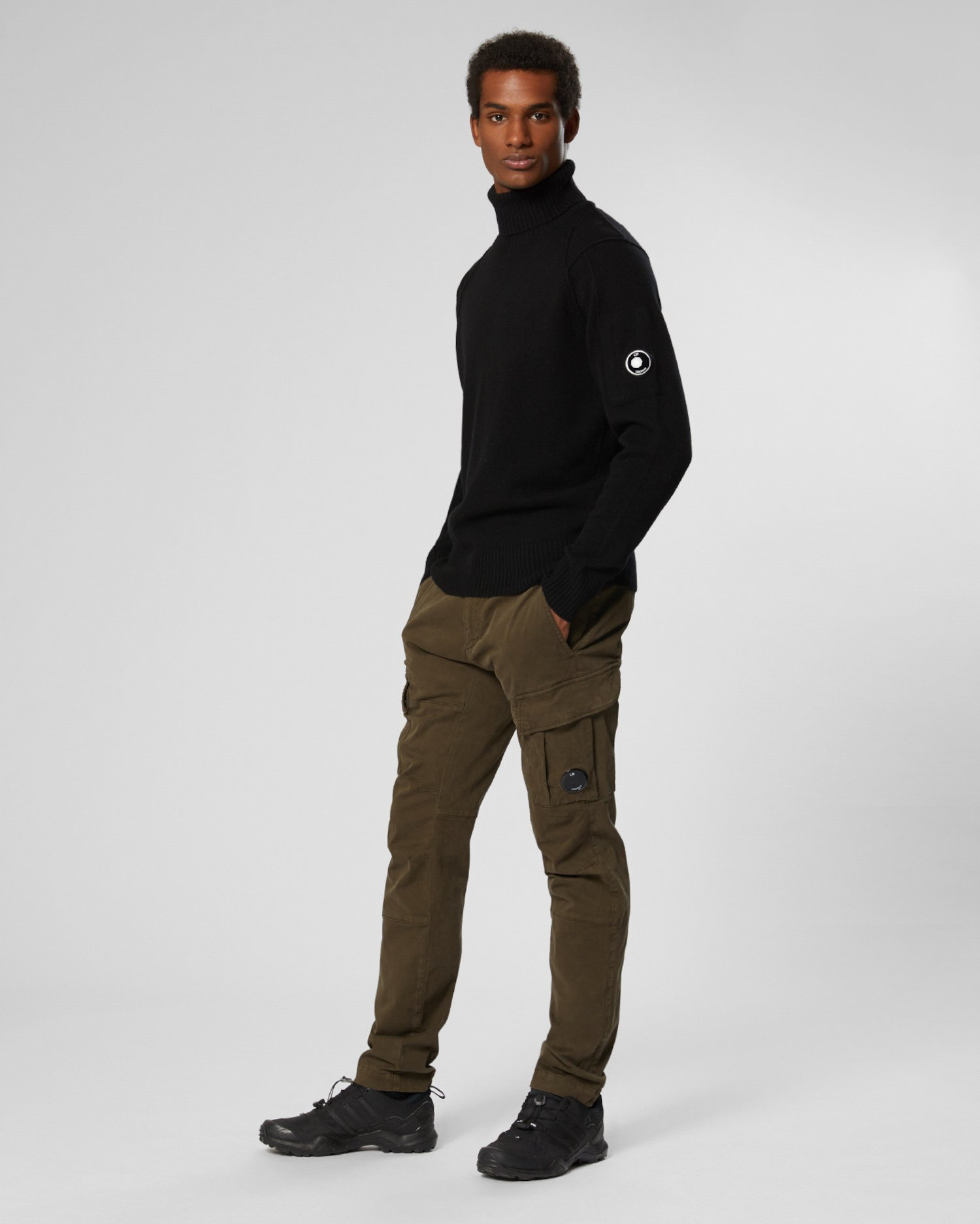 Lambswool Lens Roll Neck Sweater