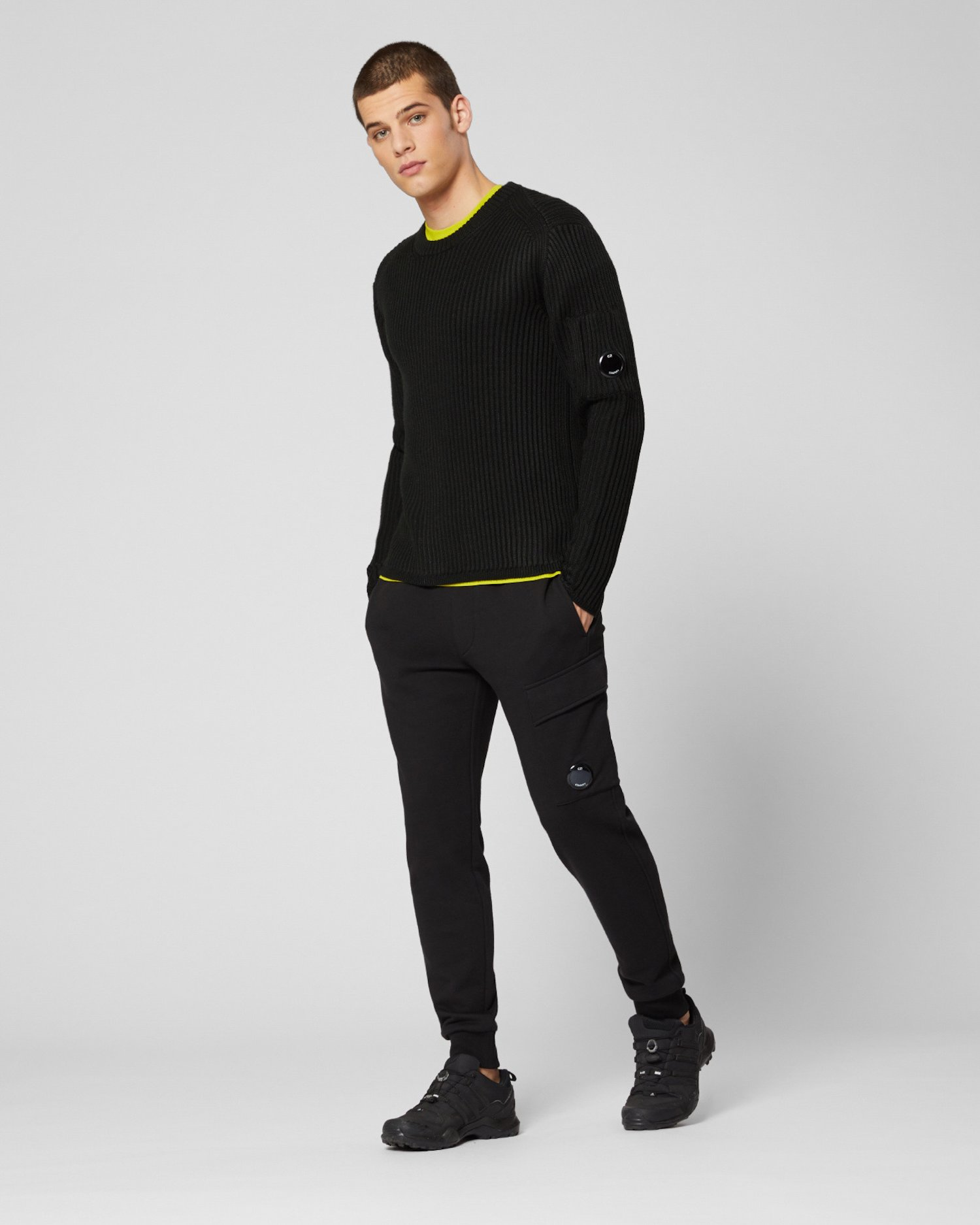 Merino Wool Ribbed Lens Sweater