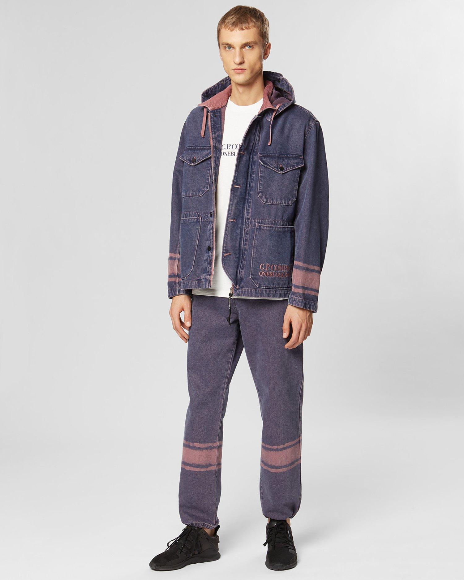 Denim 14 3/4 OZ Work Jacket in Pink Overdyed Denim