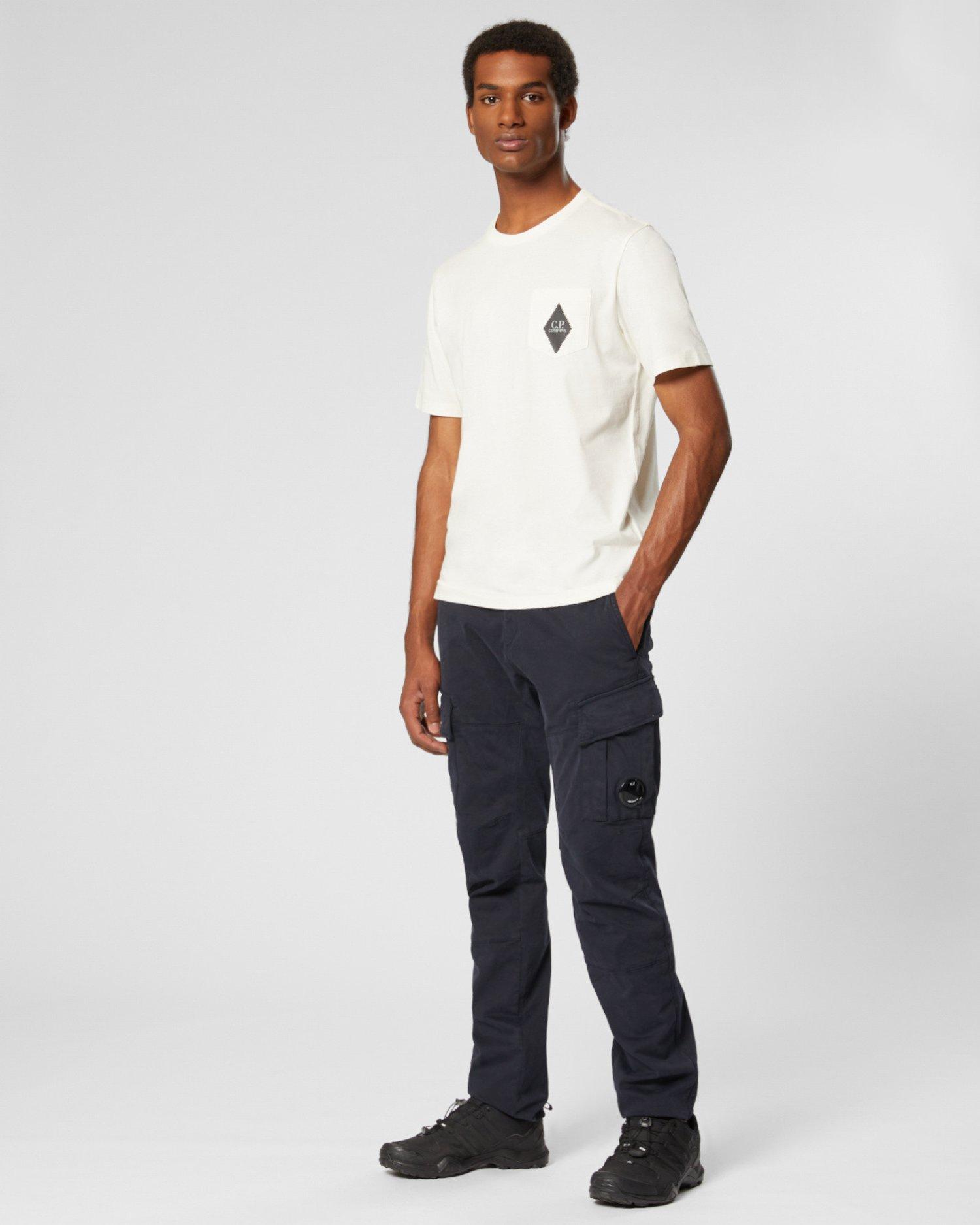 Pantalon à verre de lunettes sur la poche en satin teint par pièce