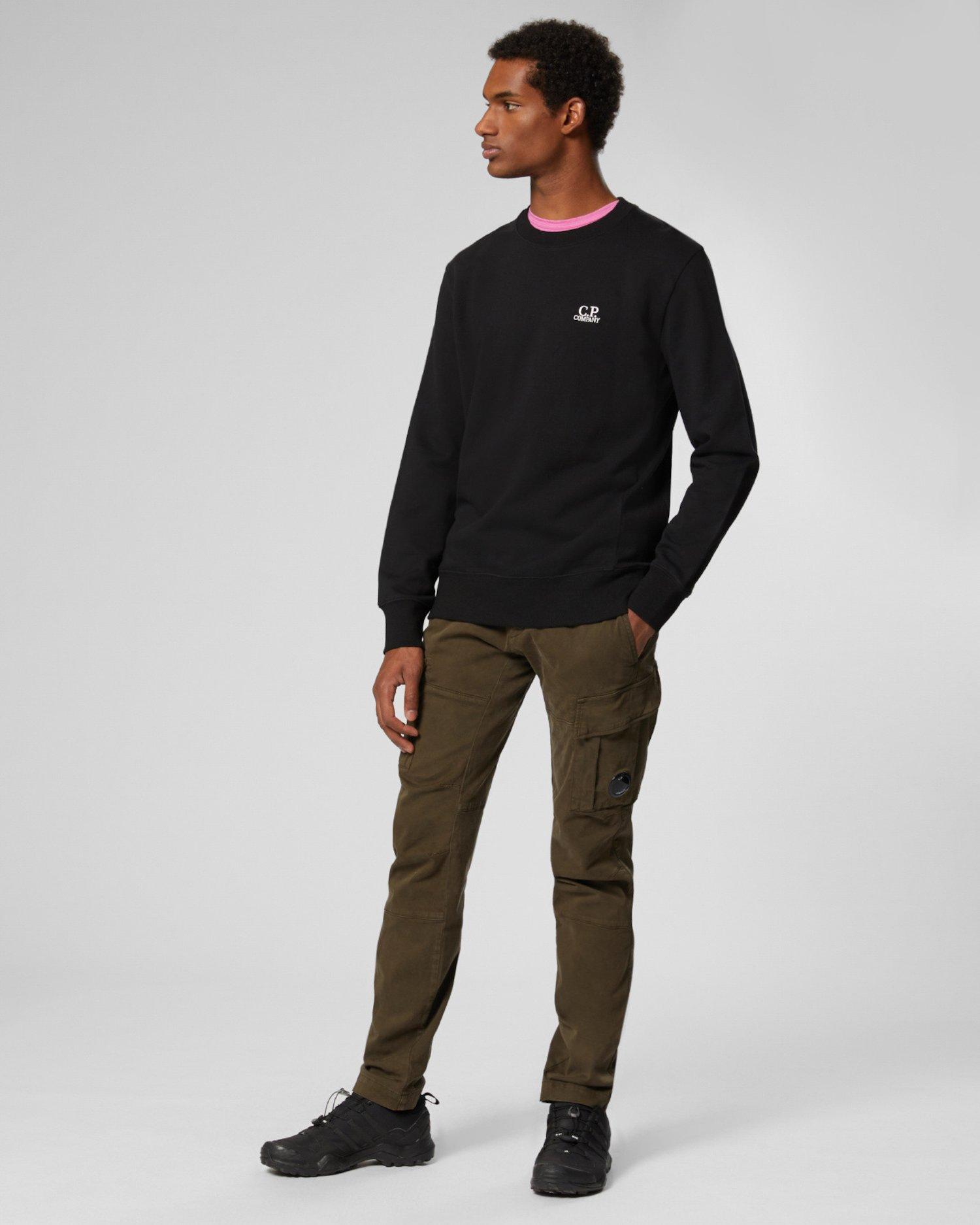 Diagonal Raised Fleece Chest Logo Sweater
