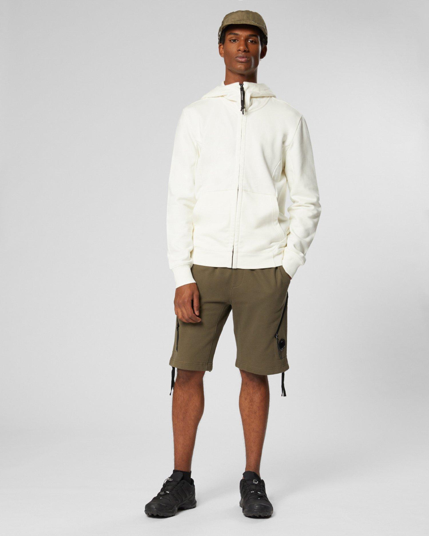 Kapuzenpullover aus Fleece mit Goggles und durchgehendem Reißverschluss