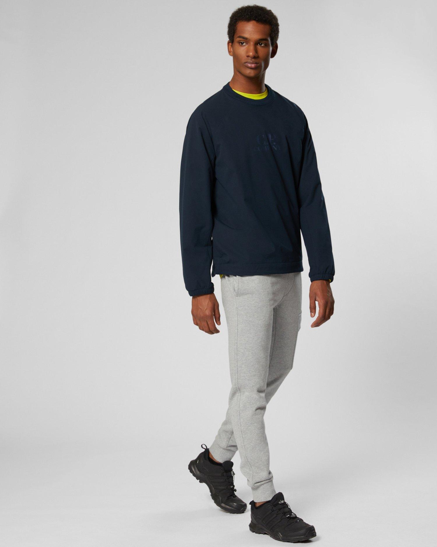 Jogginghose aus Fleece mit Diagonalbindung und Linsen-Detail