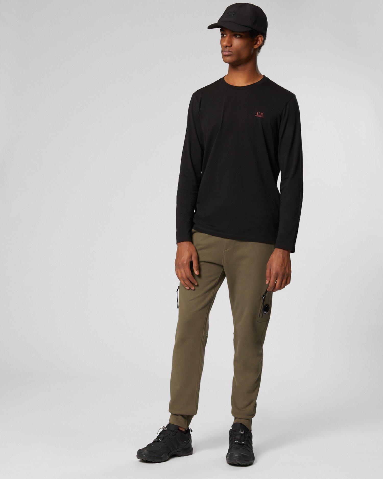 Pantalones de deporte de tejido polar con relieve en diagonal y bolsillo de cremallera