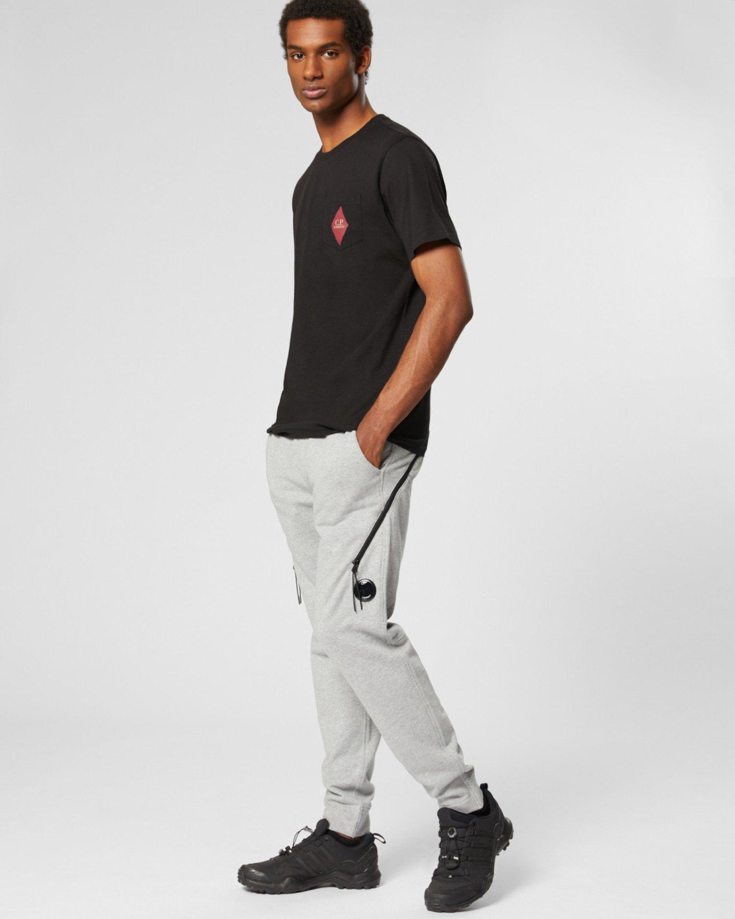 Pantalon de jogging à poche zippée en molleton à relief en diagonale