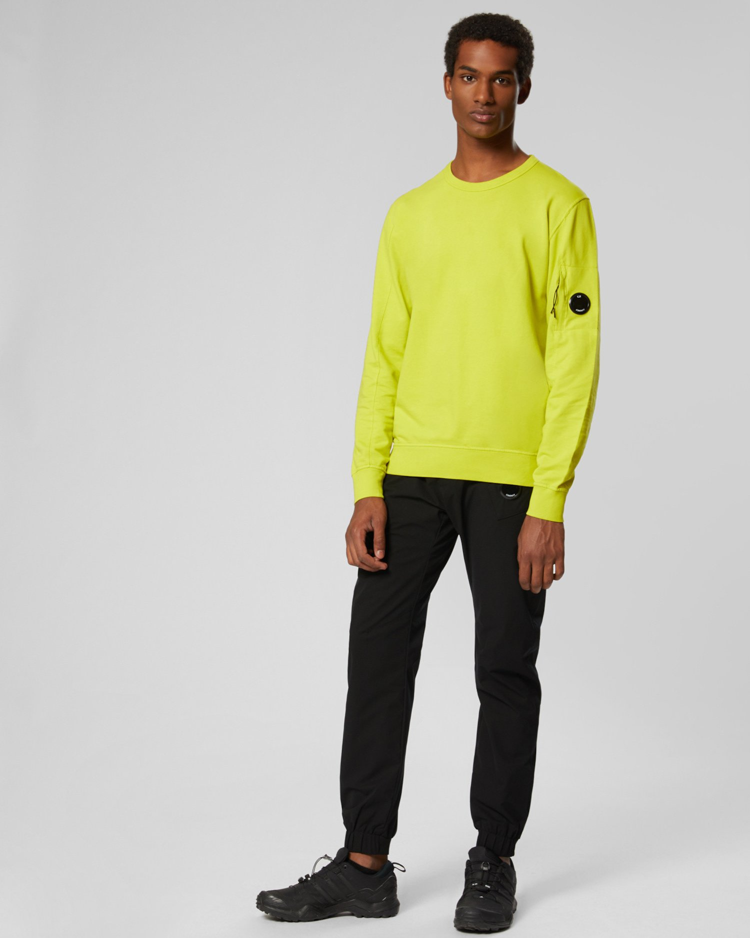 Garment Dyed Light Fleece Lens Crew Sweatshirt