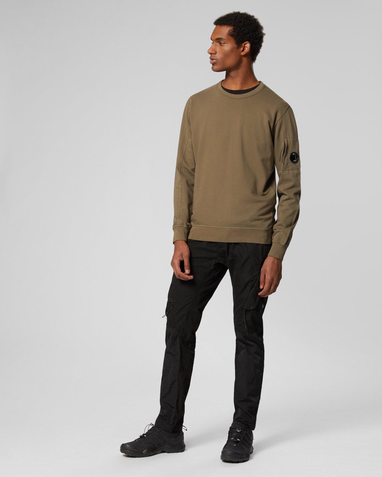 Stückgefärbtes Sweatshirt aus leichtem Fleece mit Rundhalsausschnitt