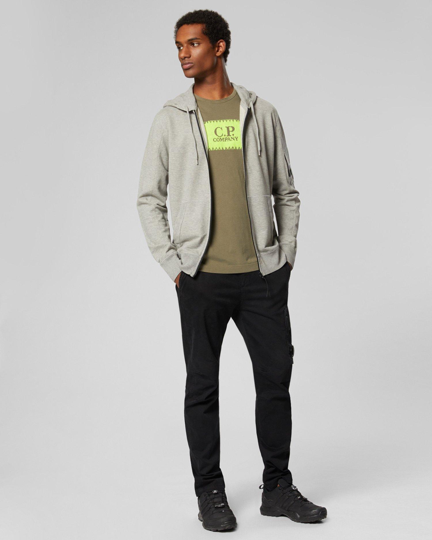 Garment Dyed Light Fleece Hooded Zip Sweatshirt