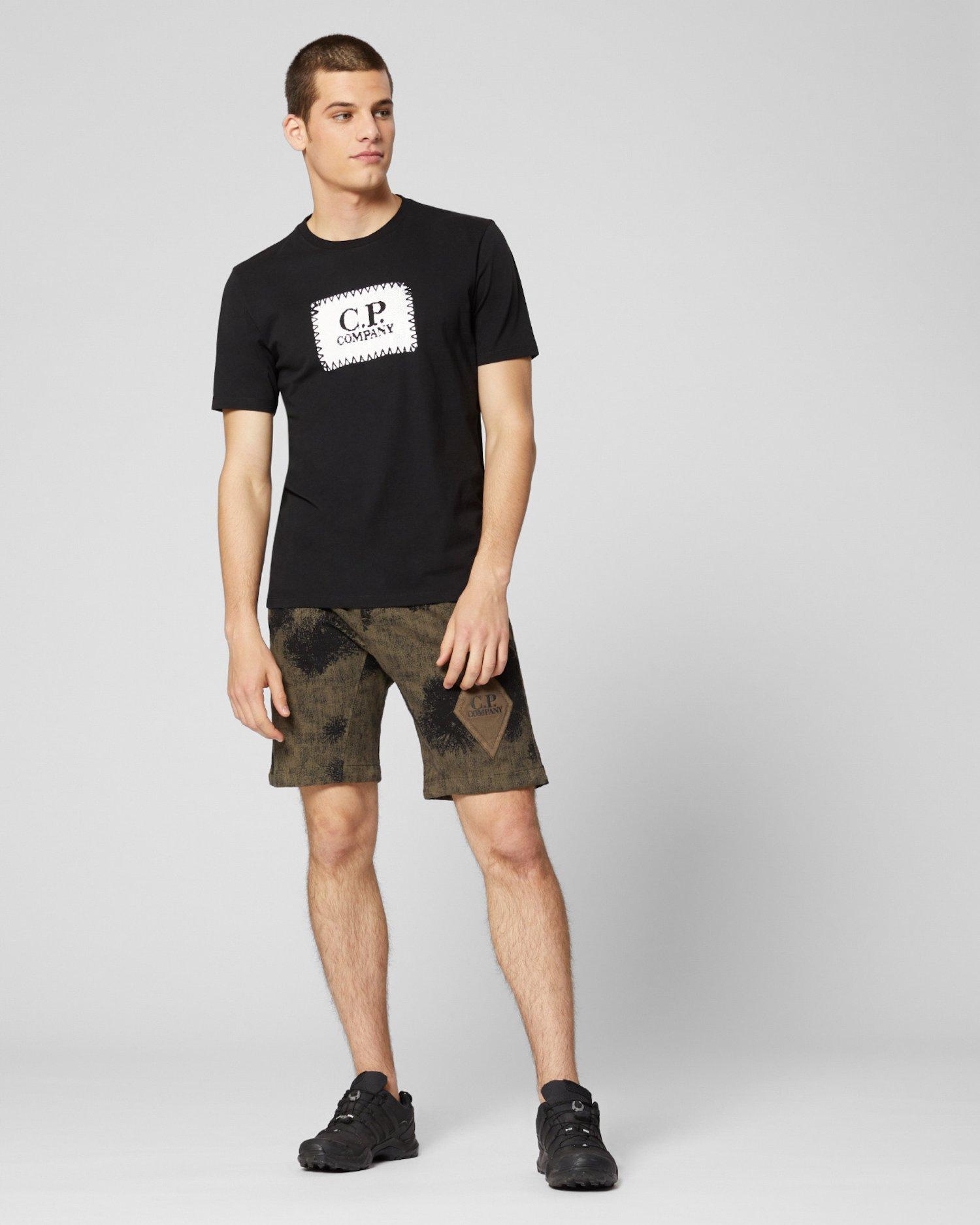 Stückgefärbte Sweat-Shorts aus leichtem Fleece mit Camouflage-Muster