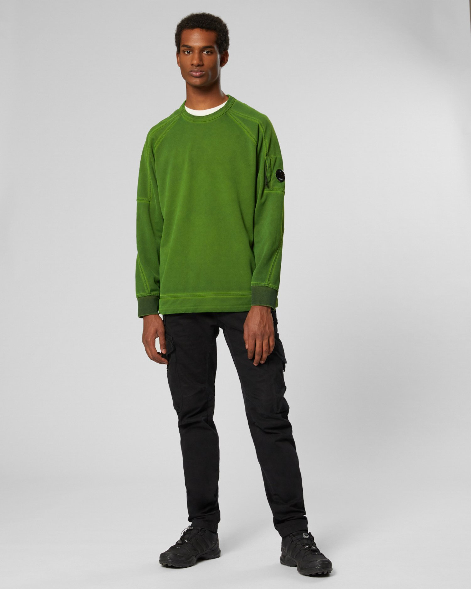 Re-Colour II Fluo Fleece Lens Crewneck Sweat