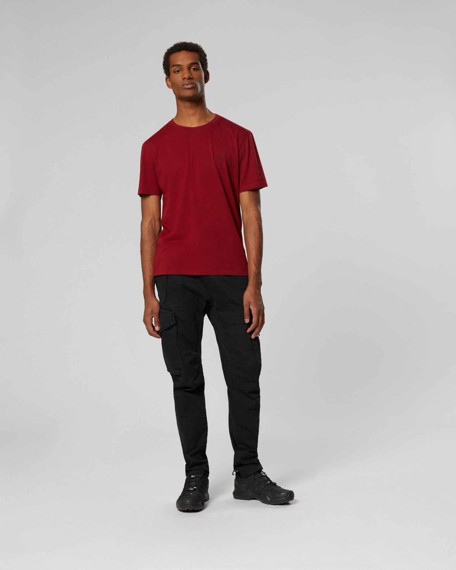 T-Shirt aus 30/1-Jersey mit Goggle-Print