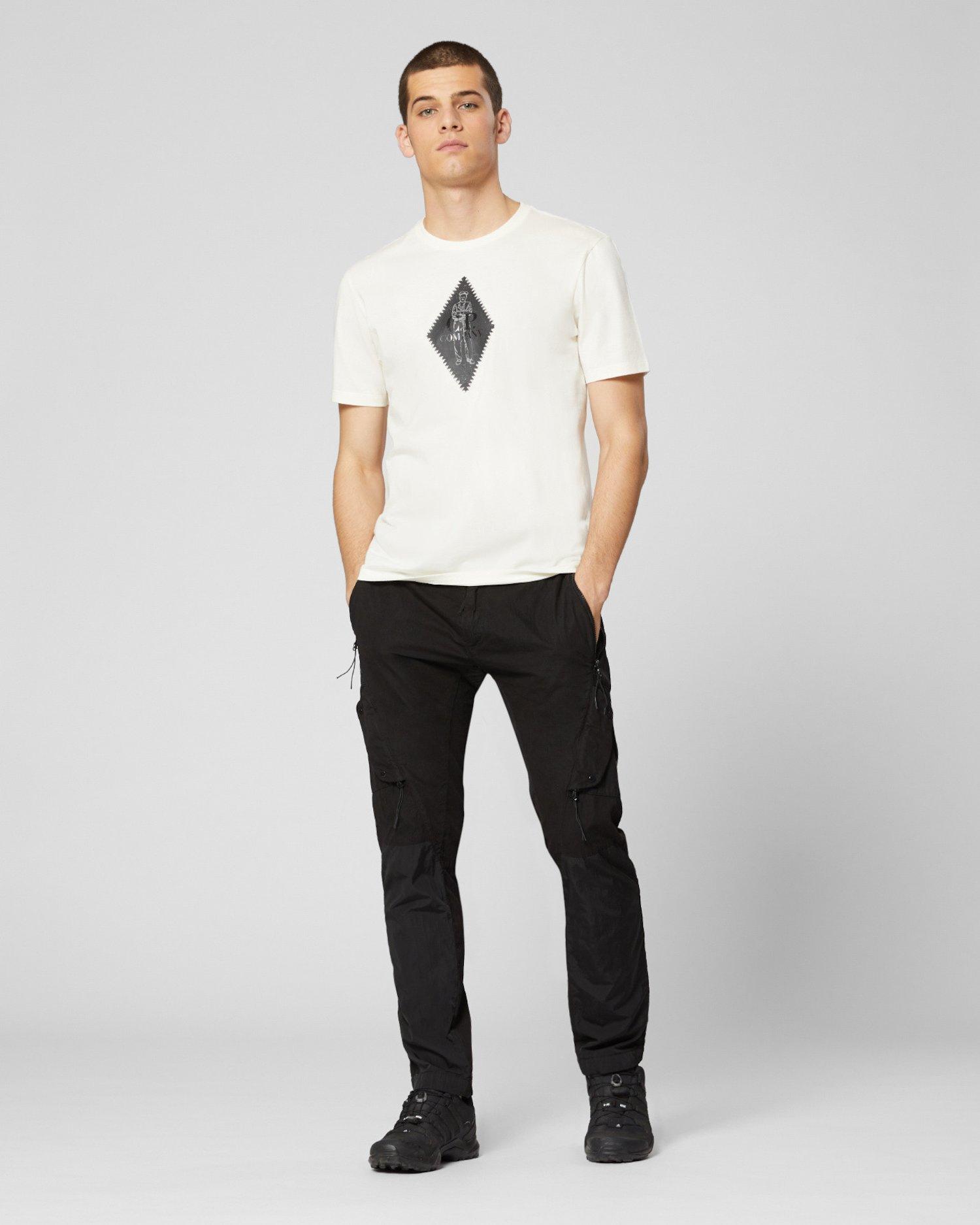 T-shirt en jersey 30/1 avec motif à logo en losange