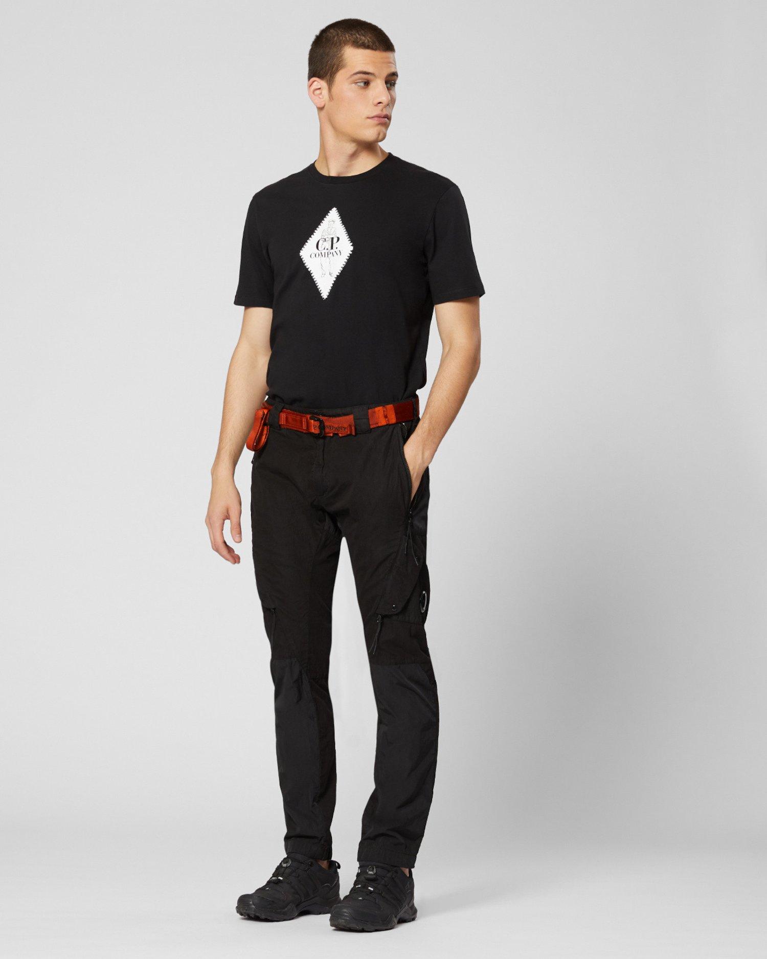 Camiseta con estampado de diamantes de punto 30/1