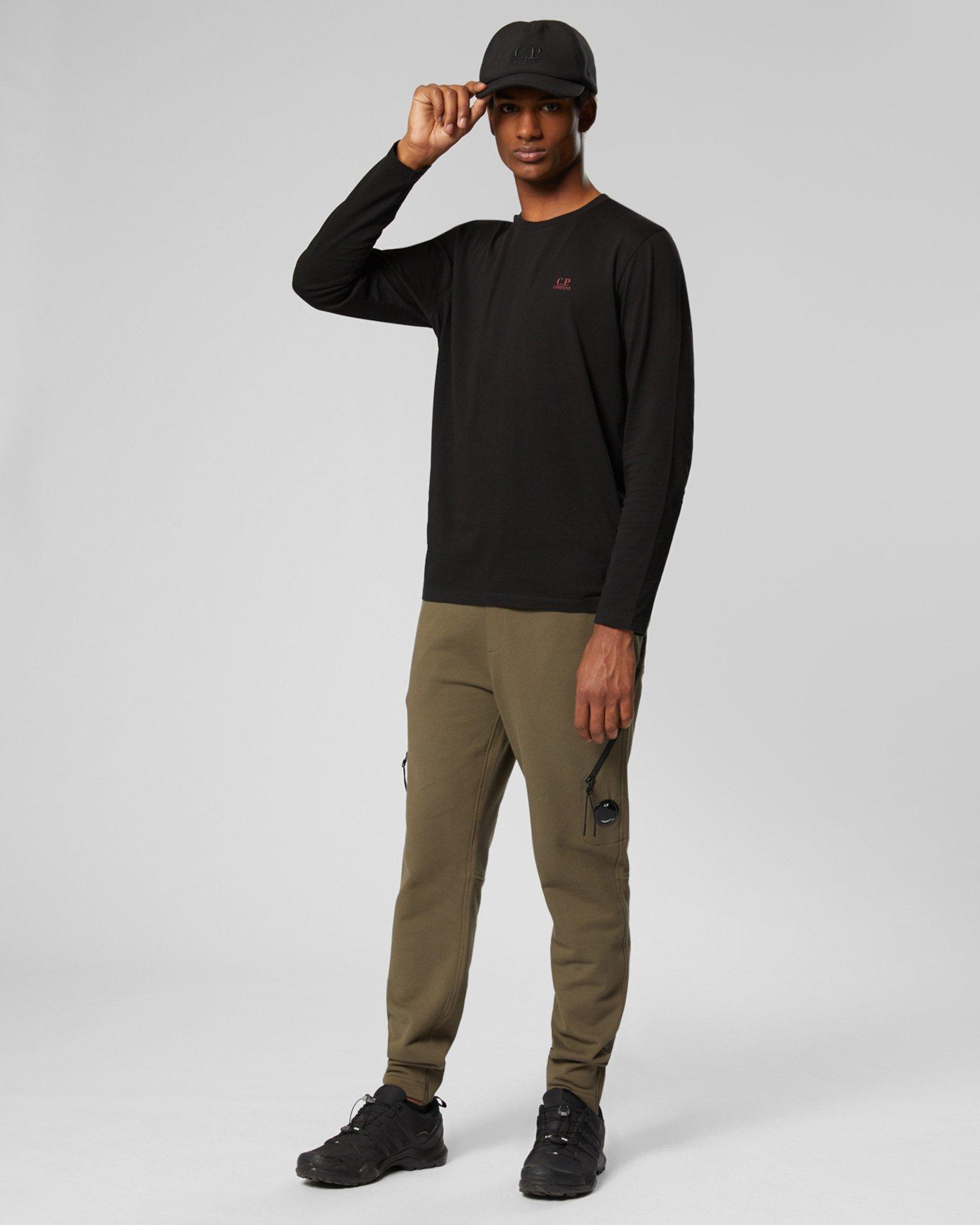 T-shirt à manches longues en jersey 30/1 avec logo en losange